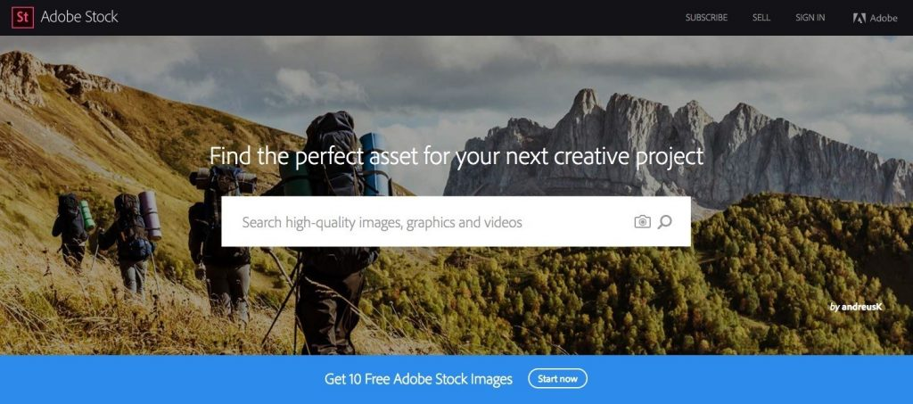 Adobe stock photo site